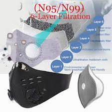 <b>Dust</b>-<b>proof</b> Sports <b>Masks with Replaceable</b> N99 or N95 Filter Sheet ...