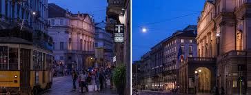 outdoor lighting in milan italy with italo the luminaire for high performance led street aec eco lighting