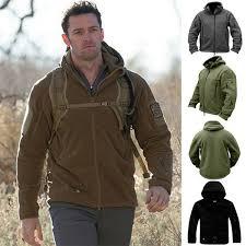 <b>ZOGAA Brand New Men</b> Fleece Tactical Jacket Overcoat Men ...