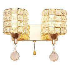 <b>Simple Modern</b> Golden Led <b>Crystal Wall</b> Lamp Room Bedroom ...