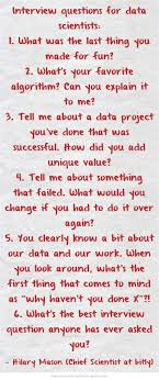 best images about data scientist marketing interview questions for data scientists hilarymason com