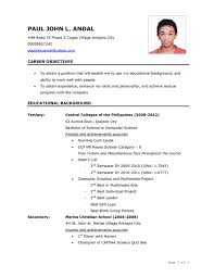 format for job application philippines sample resume  seangarrette coformat for job application