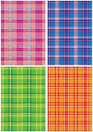 """<b>Картон</b> цветной с тиснением A4, <b>Апплика</b> """"Шотландка"""", 4 листа, в ..."""
