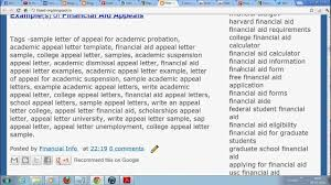 academic appeal sample letter for college and universities academic appeal sample letter for college and universities