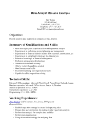 resume skills keywords list cipanewsletter data analyst resume samples template