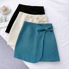 Wasteheart <b>Autumn Winter</b> Blue Women Skirts Women High Waist A ...