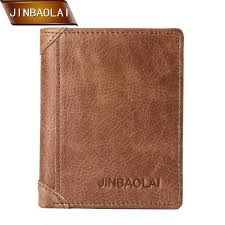 <b>JINBAOLAI</b> Genuine Leather Men <b>Wallets</b> Trifold <b>Wallet</b> with Double ...