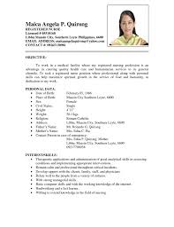 sample resume for nurses applying abroad   samples resume for jobsample resume for nurses  out experience