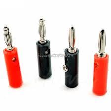 10pcs Audio Speaker Wire <b>Banana</b> Plug Connectors 4mm Adapter ...