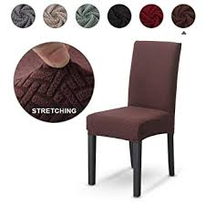 Buy Volwco <b>Stretch Chair Cover</b>, Spandex Dining <b>Chair Covers</b> Seat ...