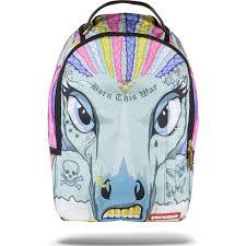 <b>Sprayground</b> 3D Unicornrows <b>Backpack</b> | Rainbow Unicorn | Urban ...