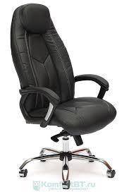 Купить Офисное <b>кресло TetChair BOSS</b> люкс <b>хром</b>, черный+ ...