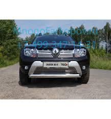 <b>Защита передняя нижняя</b> (<b>овальная</b>) на Renault Duster ...