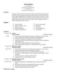 Personal Assistant CV Example for Admin | LiveCareer
