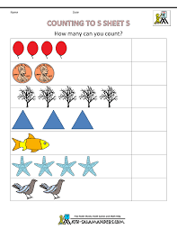 Preschool Counting Worksheets - Counting to 5math worksheets preschool counting to 5 5