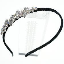 <b>Korean Cute</b> Lady Women <b>Shining</b> Rhinestone Headband Flower ...