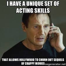 I have a unique set of acting skills That allows Hollywood to ... via Relatably.com