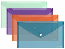 <b>Папка</b>-конверт на кнопке пластиковая <b>ErichKrause</b>® Style ...