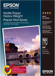 <b>Epson Matte Heavyweight Paper</b> (C13S041256) <b>фотобумага</b>, 50 ...