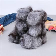 Micholediys <b>2018 New</b> Arrival <b>Handmade</b> Winter Fox Fur Blue Snow ...