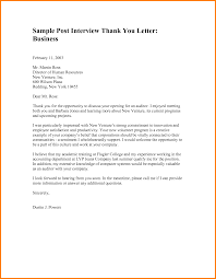 business interview thank you letter thank you letter  thank you letter for business template