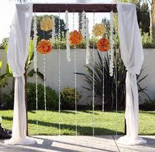 Decorating A Trellis For A Wedding Katherinns Blog Decorated Fabric Wedding Arbor