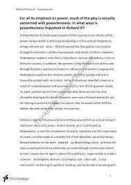 richard iii essay  year  vce   english  thinkswap richard iii essay