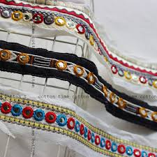 4yards Indian Trim Kutchi Trim Embroidered Lace <b>5cm wide</b> Boho ...