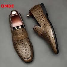 <b>OMDE</b> Genuine Leather <b>Tassel Men Shoes</b> Luxury Embossed ...