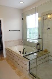 bath ideas:  tags traditional full bathroom with giallo veneziano granite arizona tile frameless shower doors by dulles