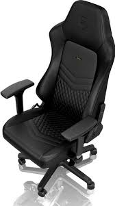 noblechairs HERO <b>Genuine</b> Leather Gaming <b>Chair Black</b> - Coolblue ...