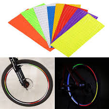 Rim <b>Reflective Tape Fluorescent</b> Sticker Decal For Bicycle <b>MTB</b> ...