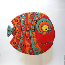<b>Керамическое панно</b> «Рыба» (с изображениями) | <b>Керамические</b> ...