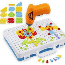 <b>146pcs Kids</b> Drill Toys Creative Educational Pretend Toy Electric ...