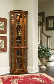 room pulaski furniture corner decoration wonderful cherry lighted corner curio cabinet ideas with glass doors a