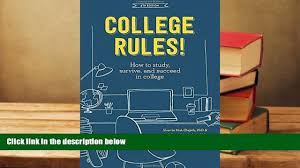 audiobook college rules how to study survive and succeed in online college rules 4th edition how to study survive and succeed in college pre order