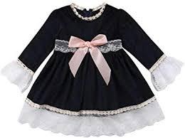 Chennie Baby Girls Cute Dress <b>Long Sleeve</b> Casual <b>Lace Edge</b> ...