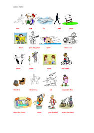 worksheet action words for kindergarten mikyu worksheet action verb cartoon action verb