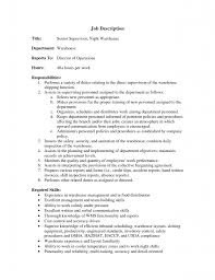 warehouse supervisor resume objective equations solver resume stunning night warehouse supervisor duties roles and