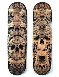 skull / sk8 / board / wood / black / graphic | <b>Скейтборд</b> дизайн ...