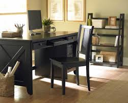 furniture rectangle black stained wooden desk with three drawers combined with rustic black polished wooden black office desk office desk