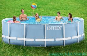 <b>Каркасный</b> бассейн Prism Frame <b>Pool intex 26710</b> купить с ...
