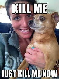 kill me just kill me now - Seriously uncomfortable dog - quickmeme via Relatably.com