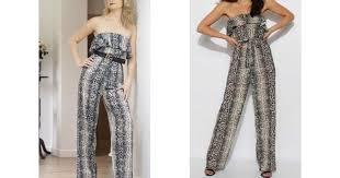 <b>Snakeskin Strapless</b> Jumpsuit | <b>Style</b> Mode | SilkFred