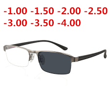 JIE.B <b>Transition Sunglasses Photochromic myopia</b> Eyeglasses ...