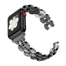 Wearlizer Black Womens Compatible with Apple <b>Watch Band</b> 38mm ...