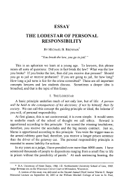 the lodestar of personal responsibility essay  marquette law    handle is hein journals marqlr  and id is raw text is  essay