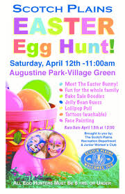 scotch plains annual easter egg hunt set for sat apr news teen volunteers help the easter bunny put surprises in easter eggs at st bart s on tues 1 credits joanne glover