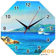 <b>Часы настенные стеклянные Time</b> Diamond оптом под ...
