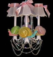 Nursery Chandelier - Whimsical Garden <b>Snails</b> - <b>Kid's</b> Lighting ...